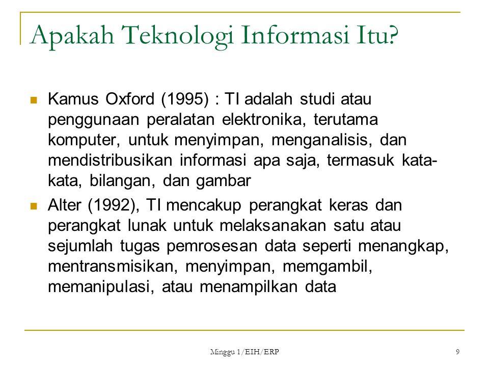 Minggu 1/EIH/ERP 9 Apakah Teknologi Informasi Itu.