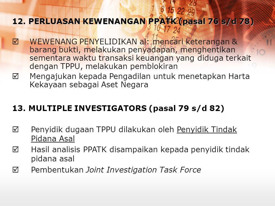 10. PERLUASAN KEWENANGAN DITJEN BEA DAN CUKAI (pasal 32)  Memberikan kewenangan pada Ditjen Bea Cukai untuk mengenakan sanksi administratif terhadap