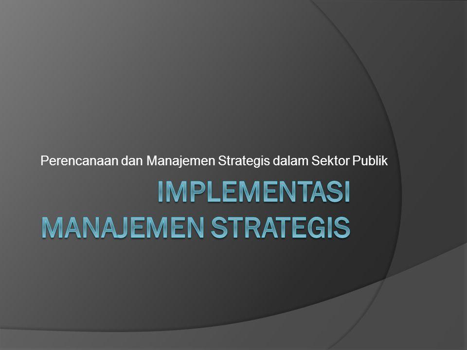 Perencanaan dan Manajemen Strategis dalam Sektor Publik