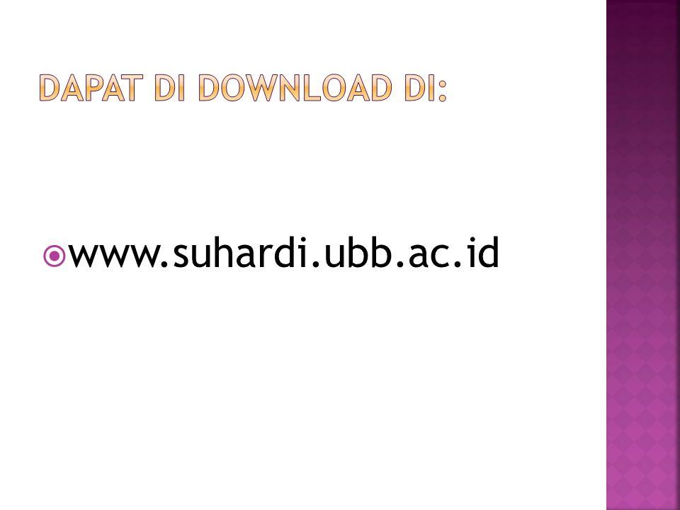  www.suhardi.ubb.ac.id