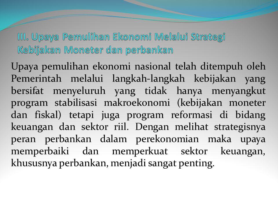 Kelemahan fundamental mikroekonomi juga tercermin pada kerentanan (fragility) yang terdapat dalam sektor keuangan, khususnya perbankan.