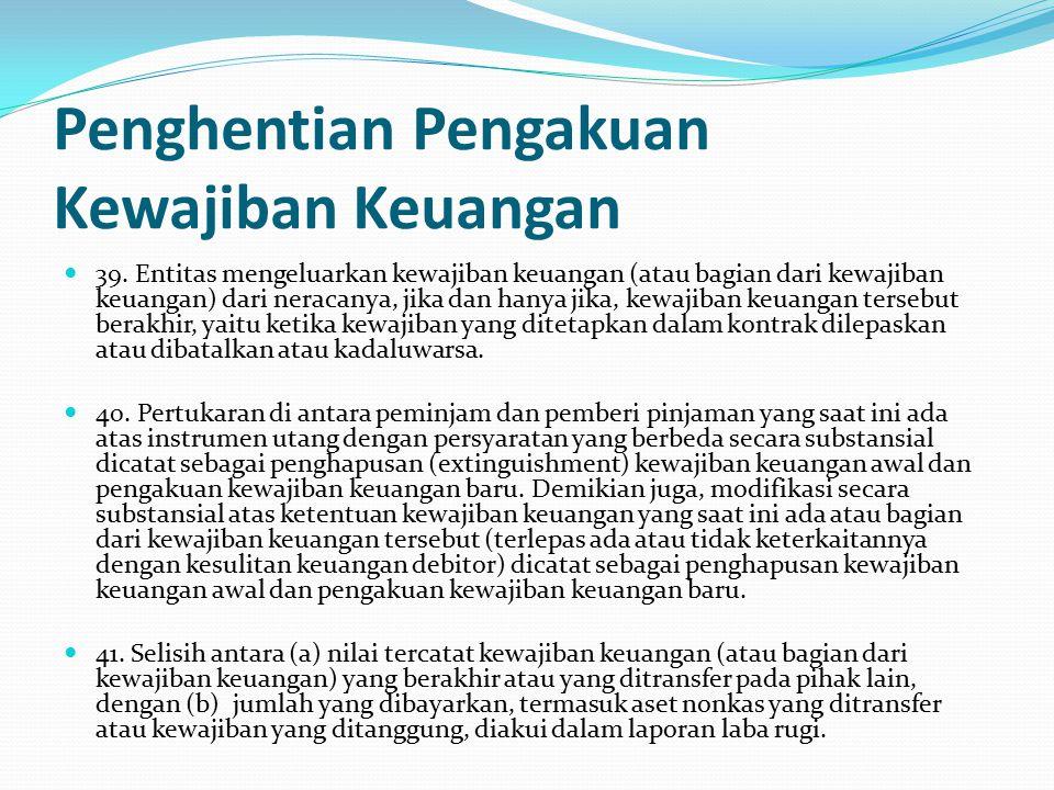 Penghentian Pengakuan Kewajiban Keuangan 39.