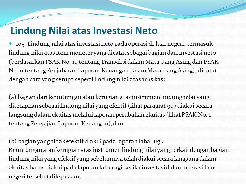 Lindung Nilai atas Investasi Neto 105.