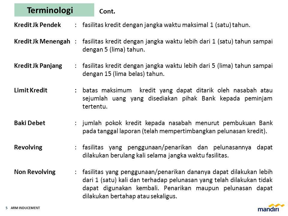ARM INDUCEMENT 4 Terminologi Rangkuman istilah-istilah yang umum digunakan di Bank Mandiri dan disusun berdasarkan istilah/definisi yang digunakan dal
