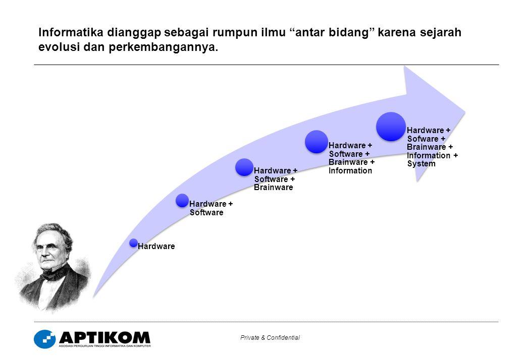 Private & Confidential 7 Perkembangan bidang keilmuan yang dinamis telah pula mewarnai platform program studi dan kurikulum yang diterapkan di Indonesia.