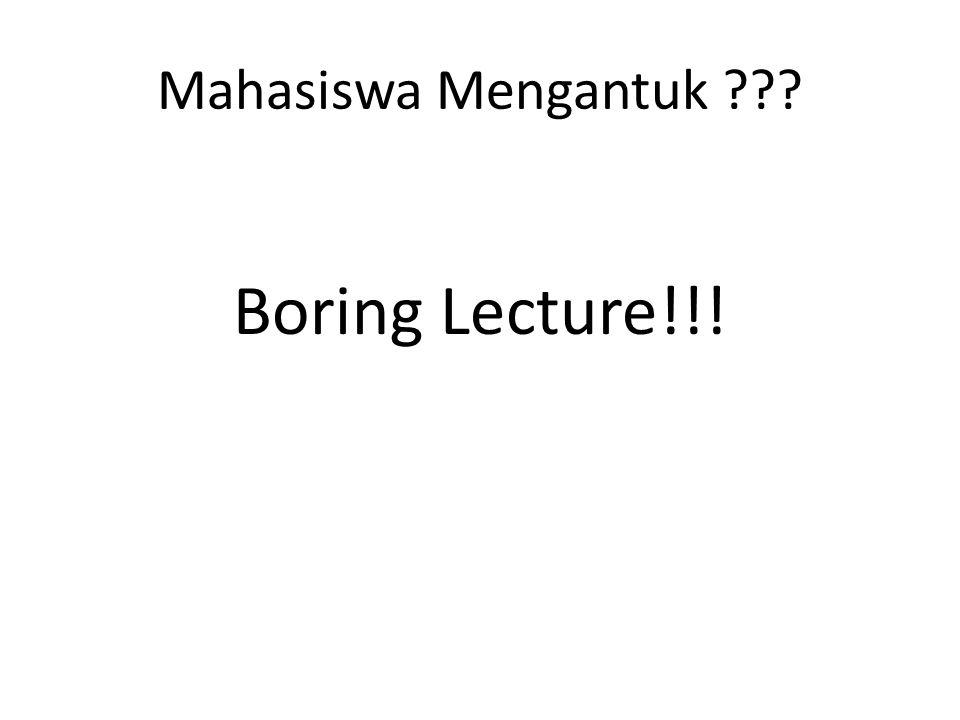 Mahasiswa Mengantuk Boring Lecture!!!