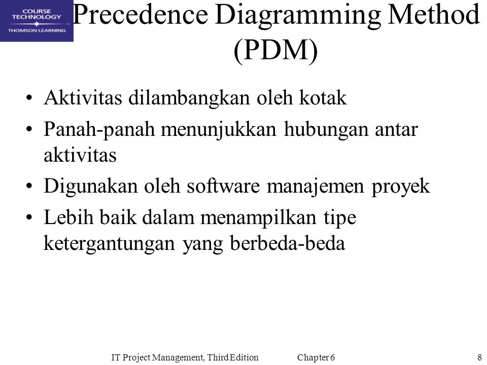 29IT Project Management, Third Edition Chapter 6 Critical Chain Scheduling Technique that addresses the challenge of meeting or beating project finish dates and an application of the Theory of Constraints (TOC) Developed by Eliyahu Goldratt in his books The Goal and Critical Chain Critical chain scheduling is a method of scheduling that takes limited resources into account when creating a project schedule and includes buffers to protect the project completion date Critical chain scheduling assumes resources do not multitask because it often delays task completions and increases total durations