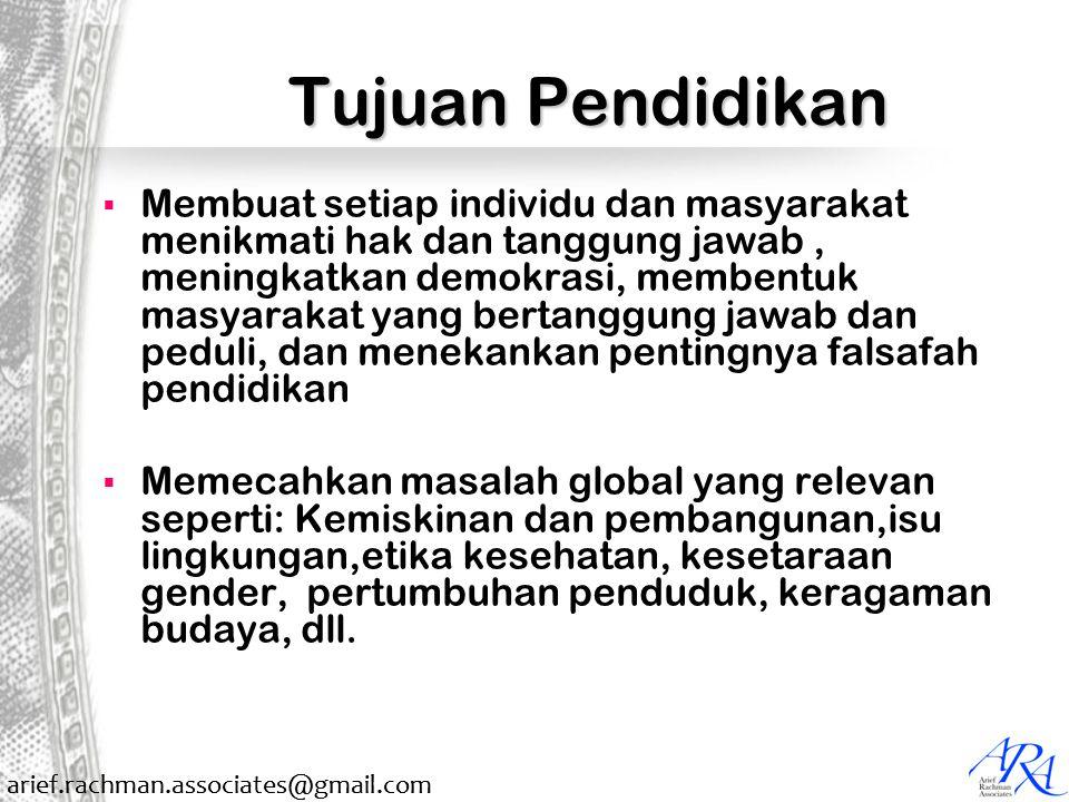 arief.rachman.associates@gmail.com Pilar Pendidikan 1.