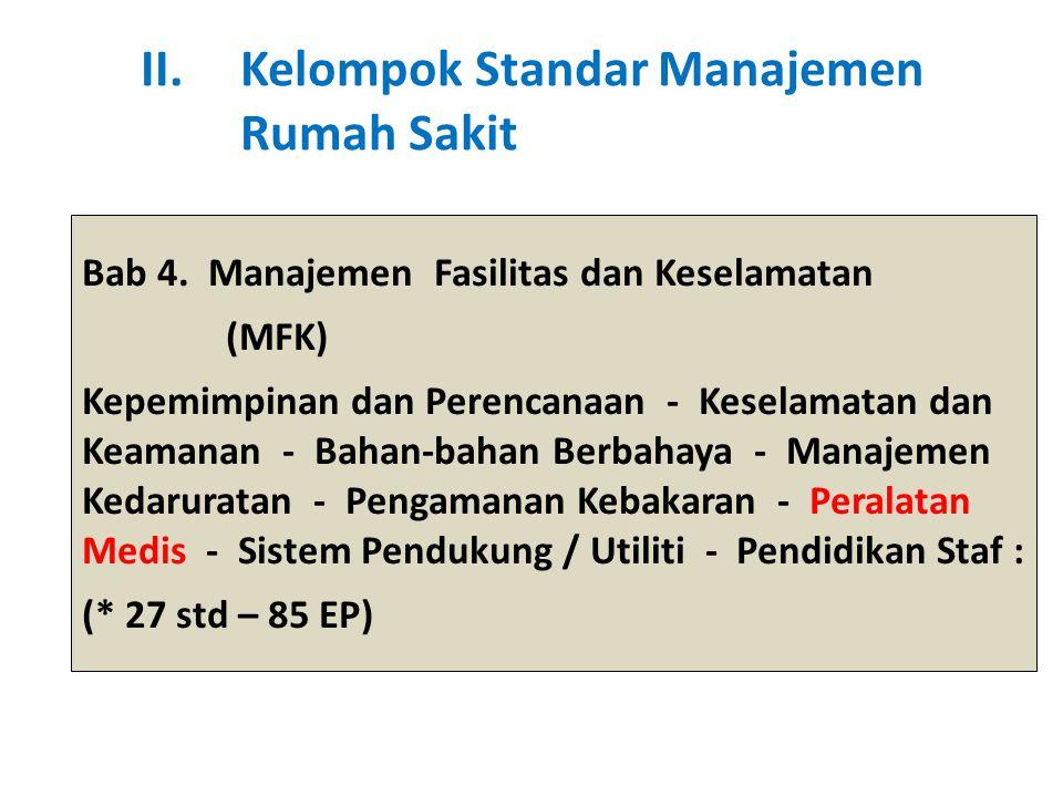 Bab 4. Manajemen Fasilitas dan Keselamatan (MFK) Kepemimpinan dan Perencanaan - Keselamatan dan Keamanan - Bahan-bahan Berbahaya - Manajemen Kedarurat