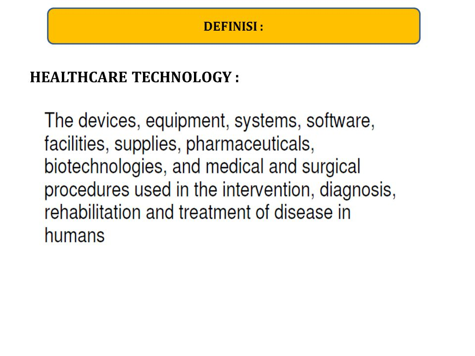Healthcare Technology Life Cycle