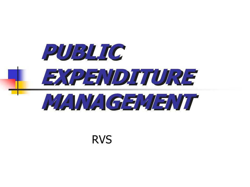 PUBLIC EXPENDITURE MANAGEMENT RVS