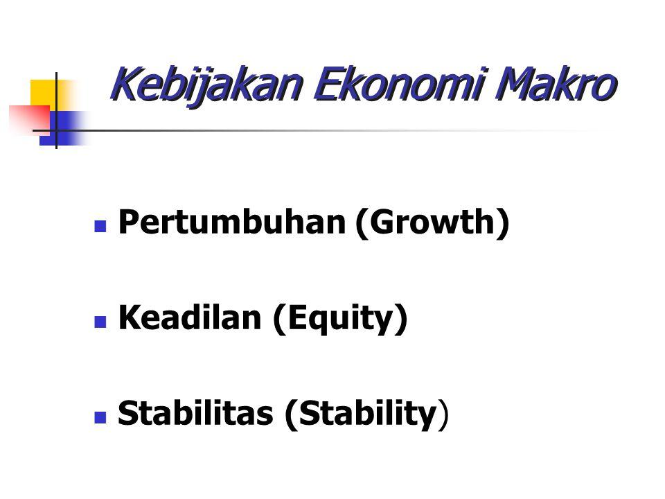 Kebijakan Ekonomi Makro Pertumbuhan (Growth) Keadilan (Equity) Stabilitas (Stability)