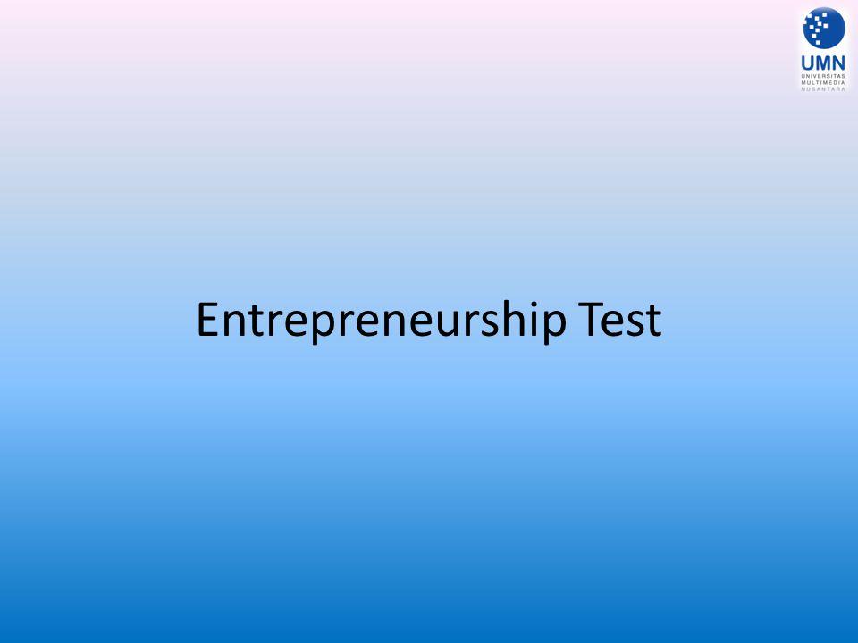 Entrepreneurship Test