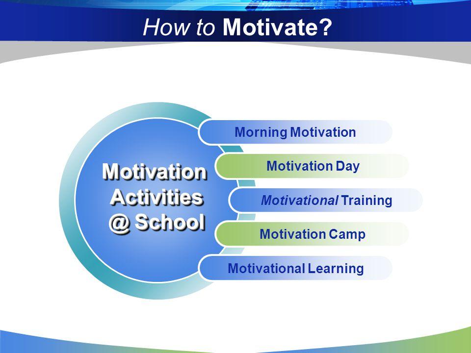 How to Motivate? Morning Motivation Motivation Day Motivational Training Motivation Camp Motivational Learning MotivationActivities @ School Motivatio