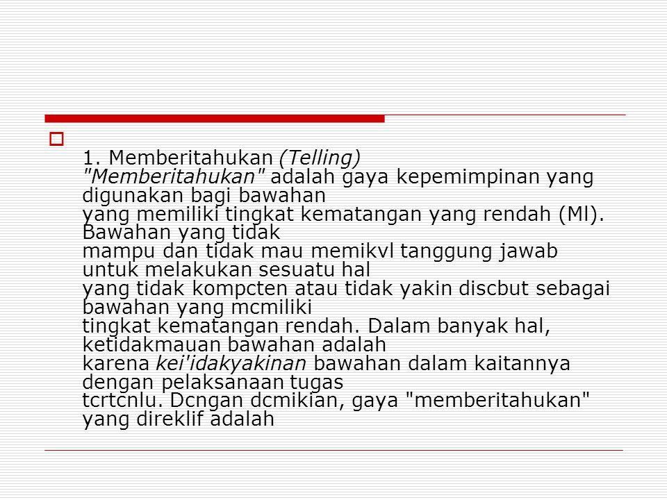  1. Memberitahukan (Telling)