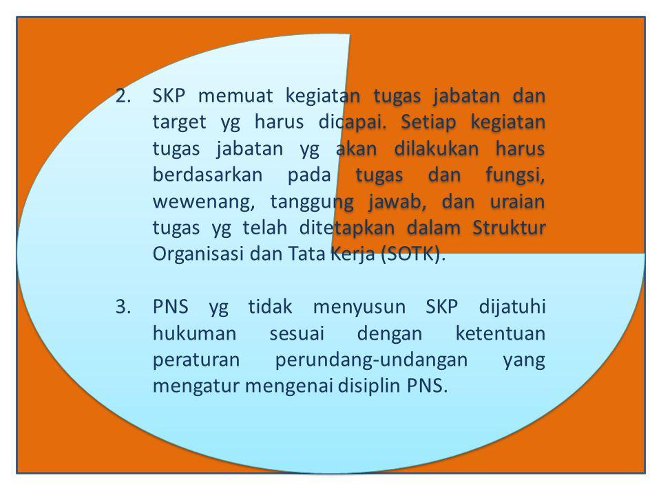 2.SKP memuat kegiatan tugas jabatan dan target yg harus dicapai.