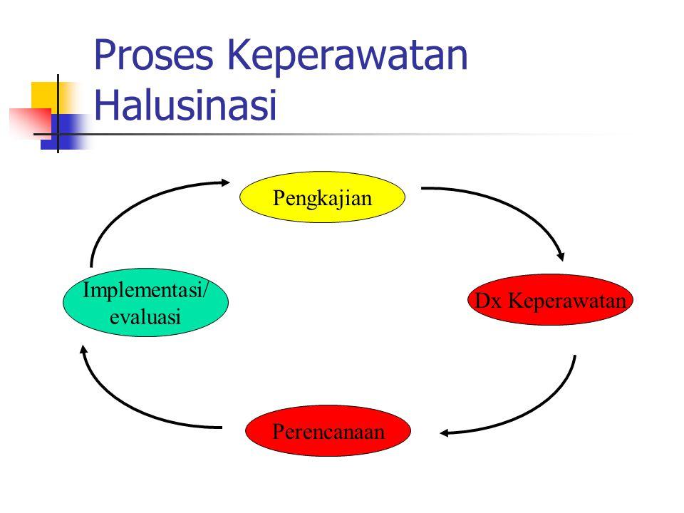 Proses Keperawatan Halusinasi Pengkajian Dx Keperawatan Perencanaan Implementasi/ evaluasi