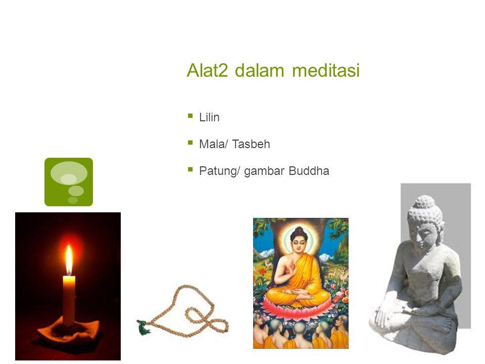 Alat2 dalam meditasi  Lilin  Mala/ Tasbeh  Patung/ gambar Buddha