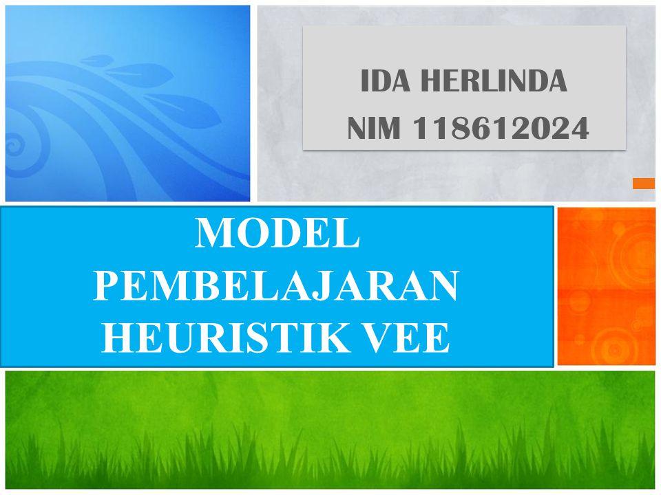 IDA HERLINDA NIM 118612024 IDA HERLINDA NIM 118612024 MODEL PEMBELAJARAN HEURISTIK VEE