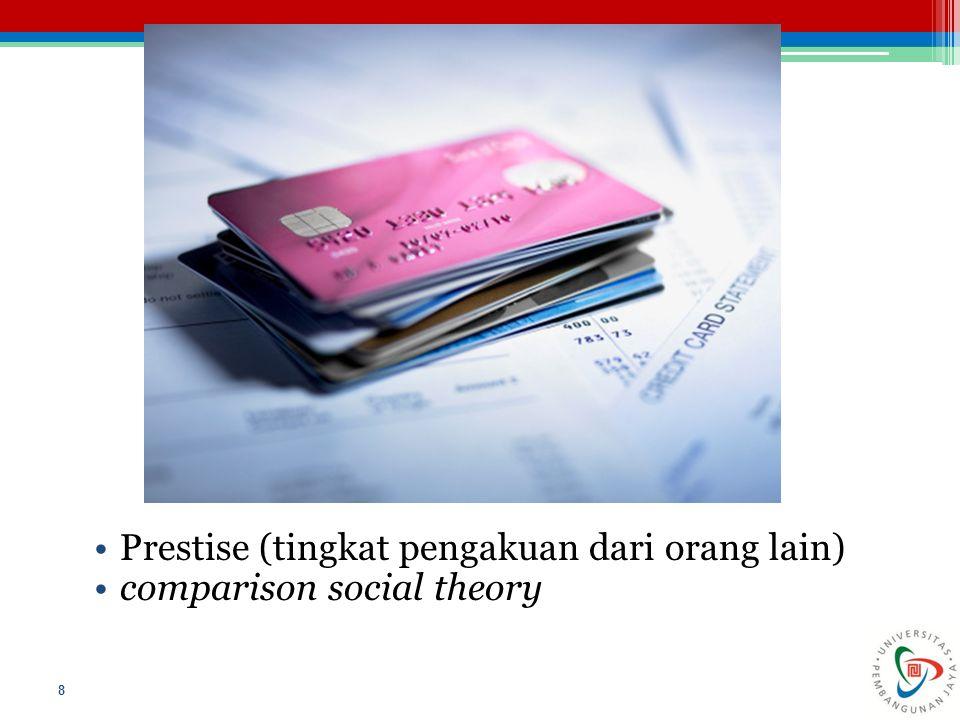 Prestise (tingkat pengakuan dari orang lain) comparison social theory 8