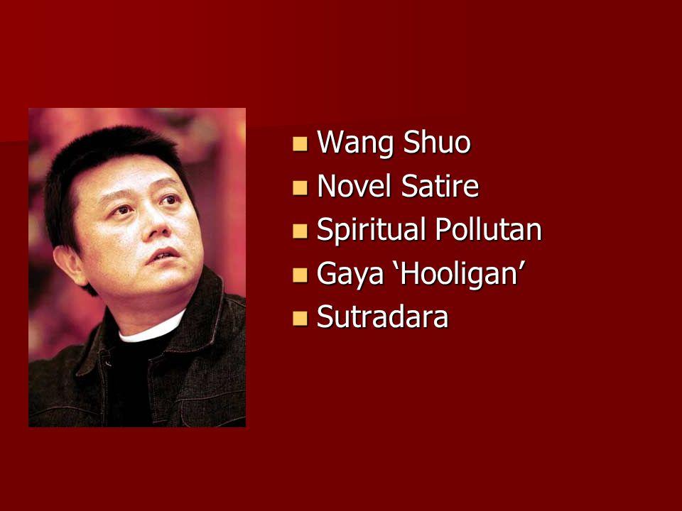 Wang Shuo Wang Shuo Novel Satire Novel Satire Spiritual Pollutan Spiritual Pollutan Gaya 'Hooligan' Gaya 'Hooligan' Sutradara Sutradara