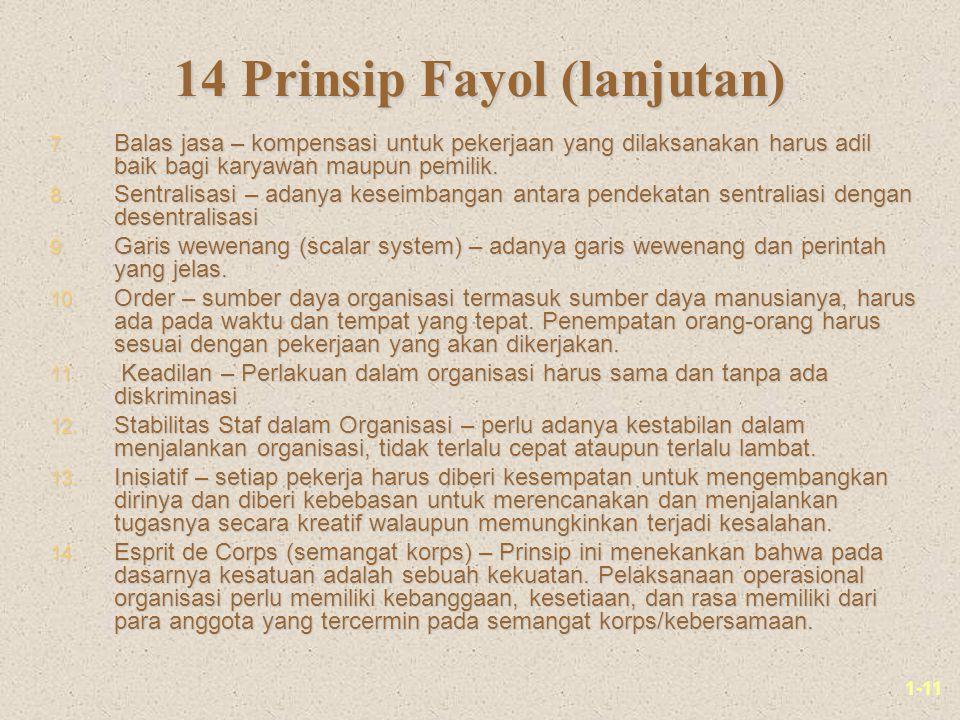1-11 14 Prinsip Fayol (lanjutan) 7.