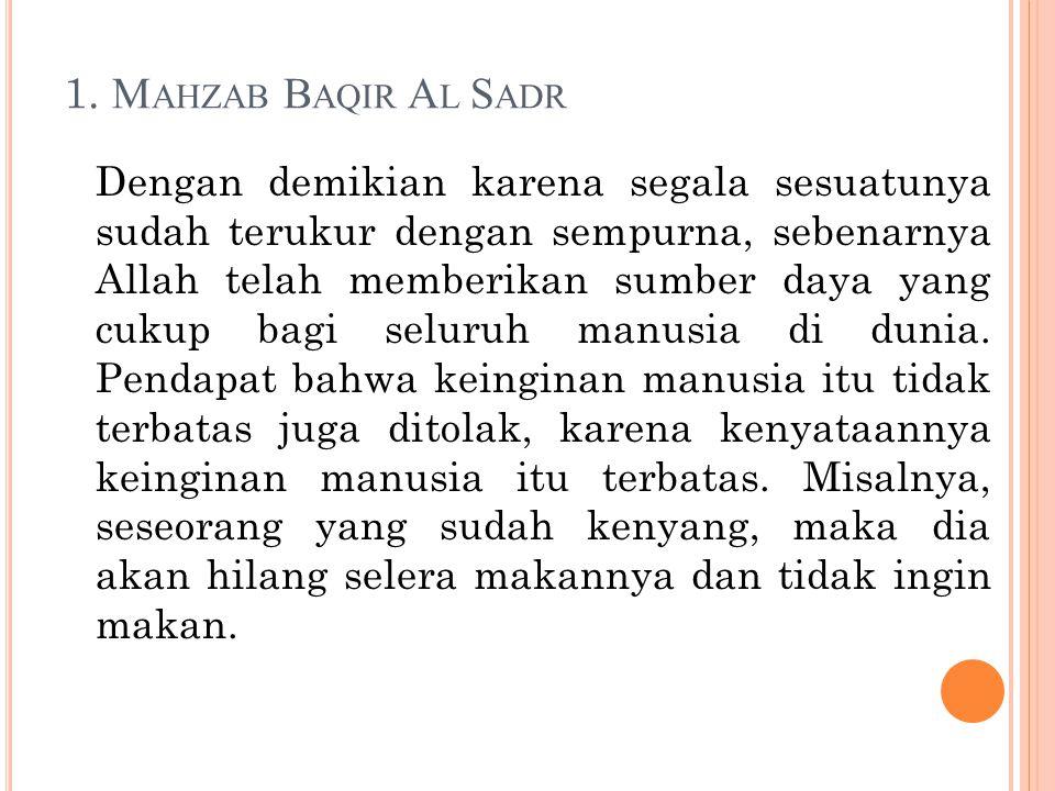 1. M AHZAB B AQIR A L S ADR Dengan demikian karena segala sesuatunya sudah terukur dengan sempurna, sebenarnya Allah telah memberikan sumber daya yang