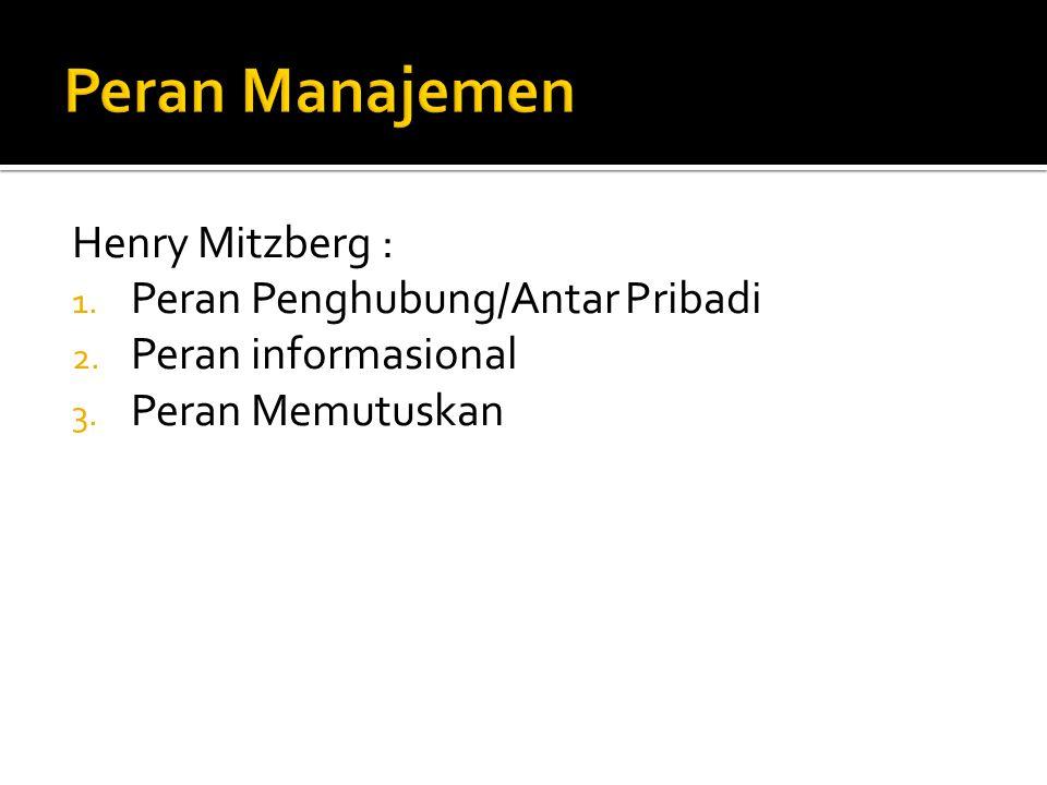  Manajer Lini Pertama-  teknis  Manajer Menengah  manusiawi  Manajer Puncak  konseptual