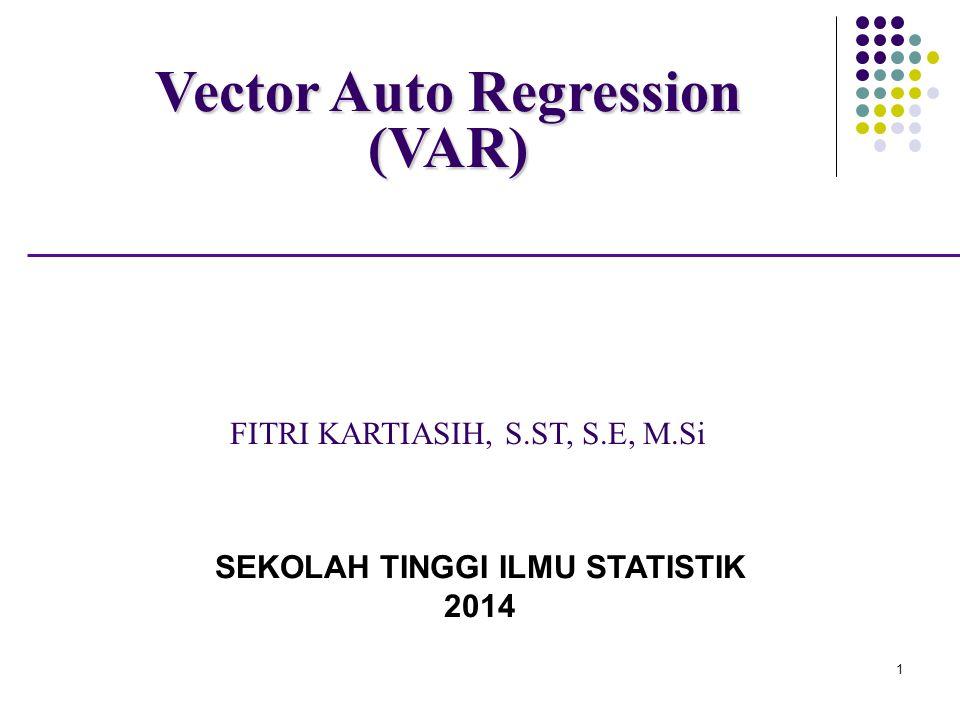 Pendahuluan Vector autoregressions (VAR) merupakan sebuah metode estimasi yang dikembangkan oleh Cristoper A.