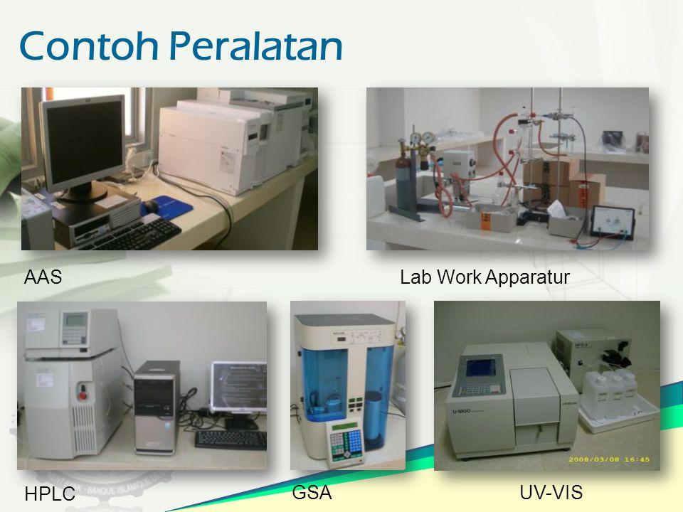 Contoh Peralatan AASLab Work Apparatur HPLC GSA UV-VIS