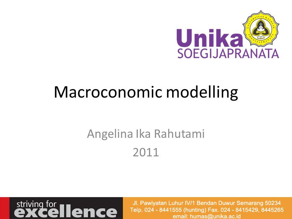 Dalam ilmu ekonomi: Model ekonomi adalah suatu konstruksi teoritis atau kerangka analisis ekonomi yang terdiri dari himpunan konsep, definisi, anggapan, persamaan, kesamaan (identitas) dan ketidaksamaan dari mana kesimpulan akan diturunkan (Insukindro, 1992: 1).