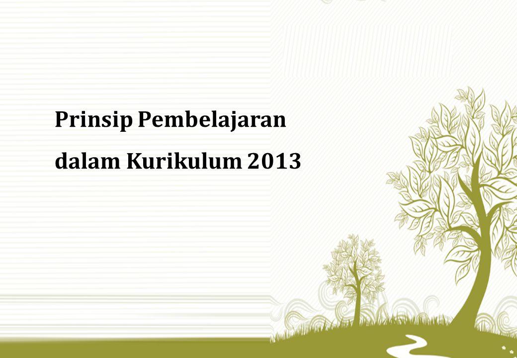 Prinsip Pembelajaran dalam Kurikulum 2013