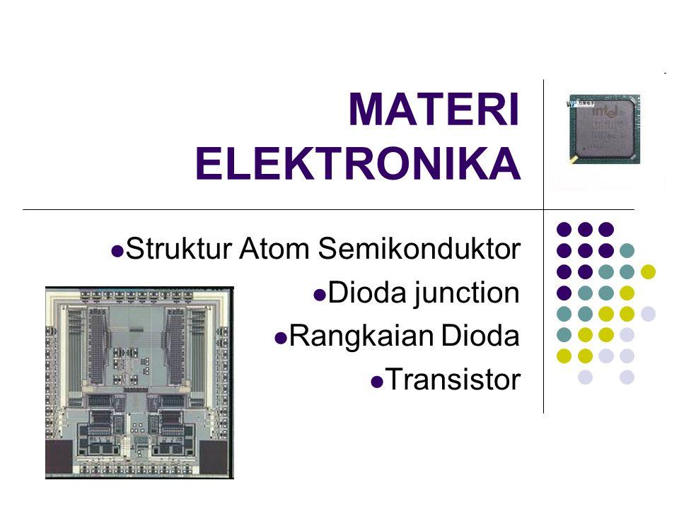 MATERI ELEKTRONIKA Struktur Atom Semikonduktor Dioda junction Rangkaian Dioda Transistor