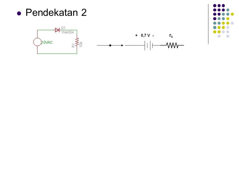 Pendekatan 2 + 0,7 V - r b
