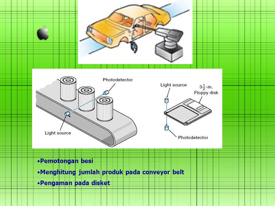 Pemotongan besi Menghitung jumlah produk pada conveyor belt Pengaman pada disket