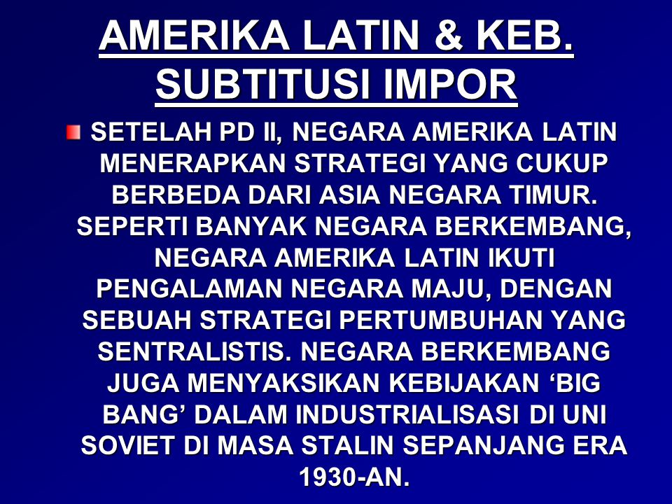 AMERIKA LATIN & KEB.