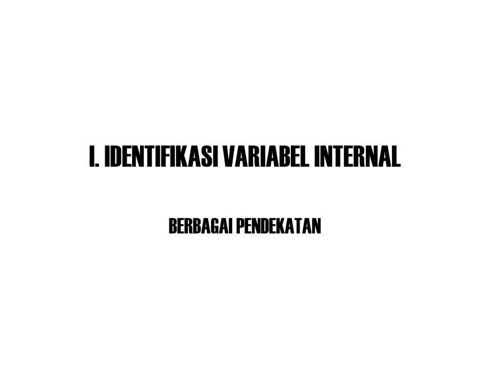 I. IDENTIFIKASI VARIABEL INTERNAL BERBAGAI PENDEKATAN