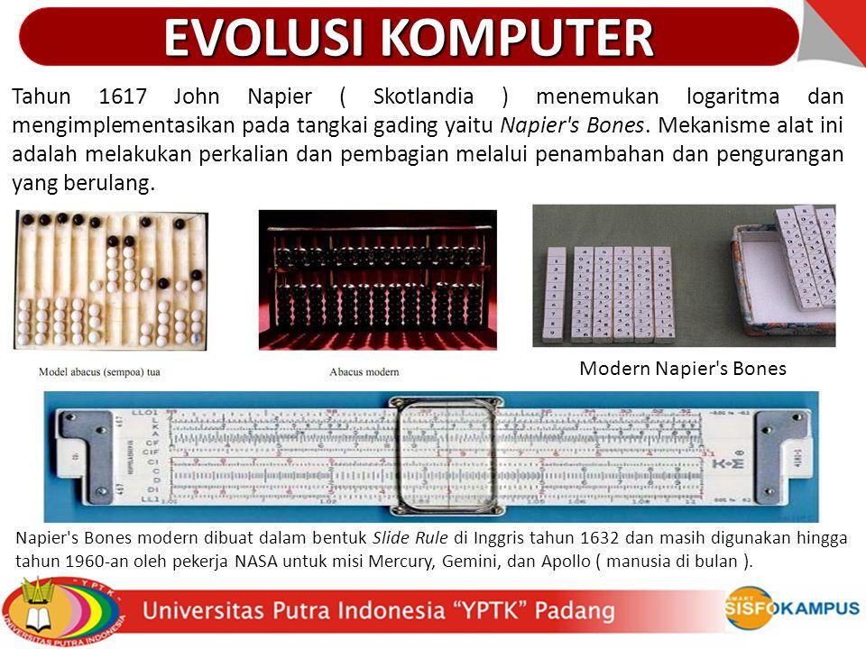 Evolusi & Perkembangan Komputer Tabel Evolusi Komputer