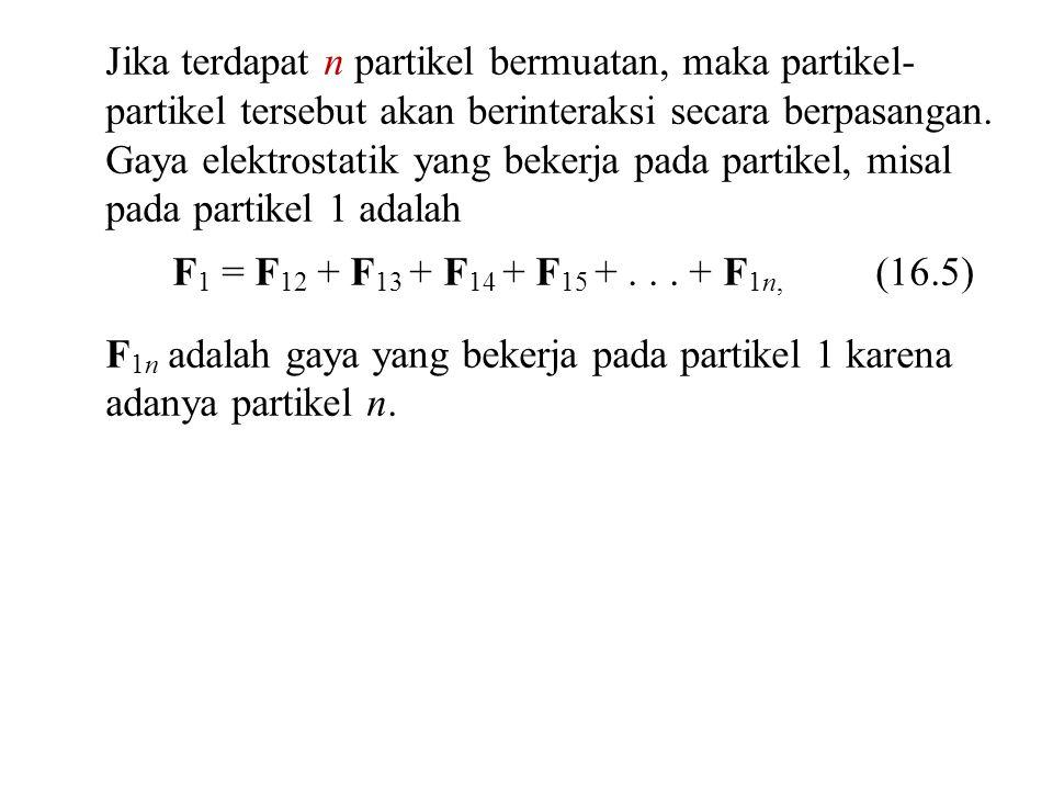 Jika terdapat n partikel bermuatan, maka partikel- partikel tersebut akan berinteraksi secara berpasangan.