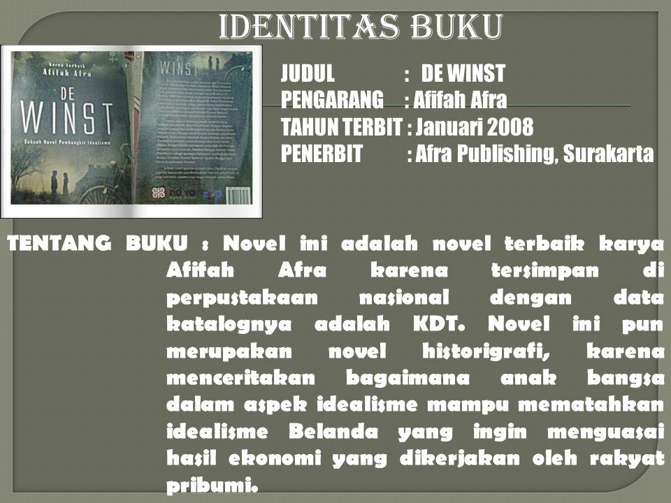 TENTANG BUKU : Novel ini merupakan salah satu dari 5 novel pemenang sayembara novel DKJ 2006.