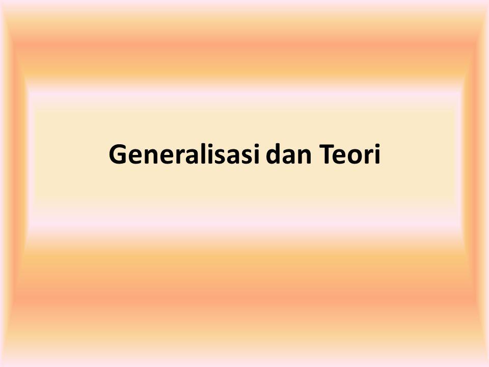 Generalisasi dan Teori