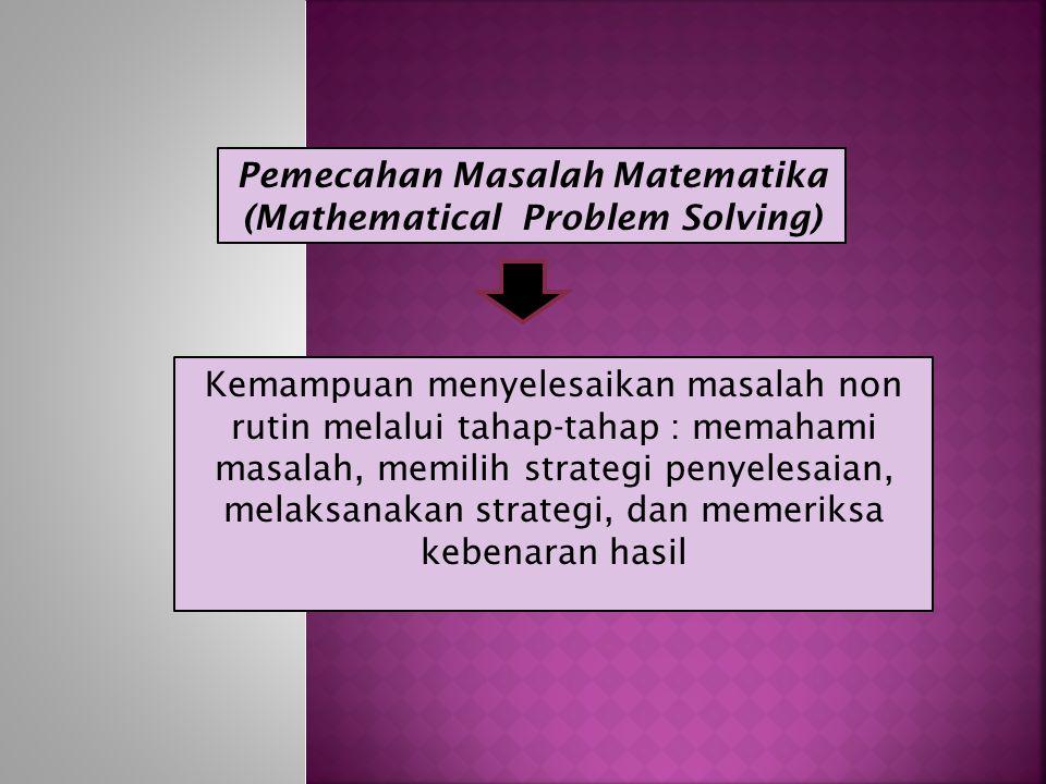 Komunikasi Matematika (Mathematical Communication) Kemampuan menyatakan, mendemonstrasikan, dan menafsirkan gagasan atau ide matematik dari suatu uraian ke dalam model matematika (grafik, diagram, tabel, dan persamaan) atau sebaliknya
