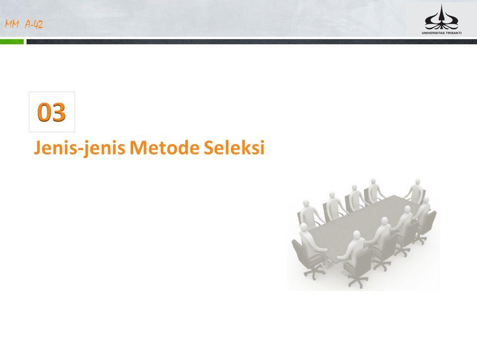 MM A-42 Jenis-jenis Metode Seleksi