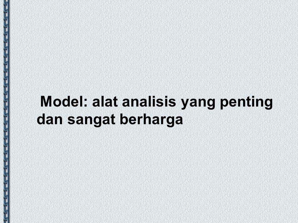 Model: alat analisis yang penting dan sangat berharga