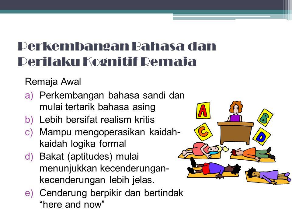 Bahasa dan Pikiran Anak Awal Bahasa digunakan anak-anak untuk mengkomunikasikan pemikirannya terhadap orang lain. Penggunaan bahasa untuk pengaturan d