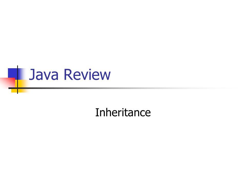 Java Review Inheritance