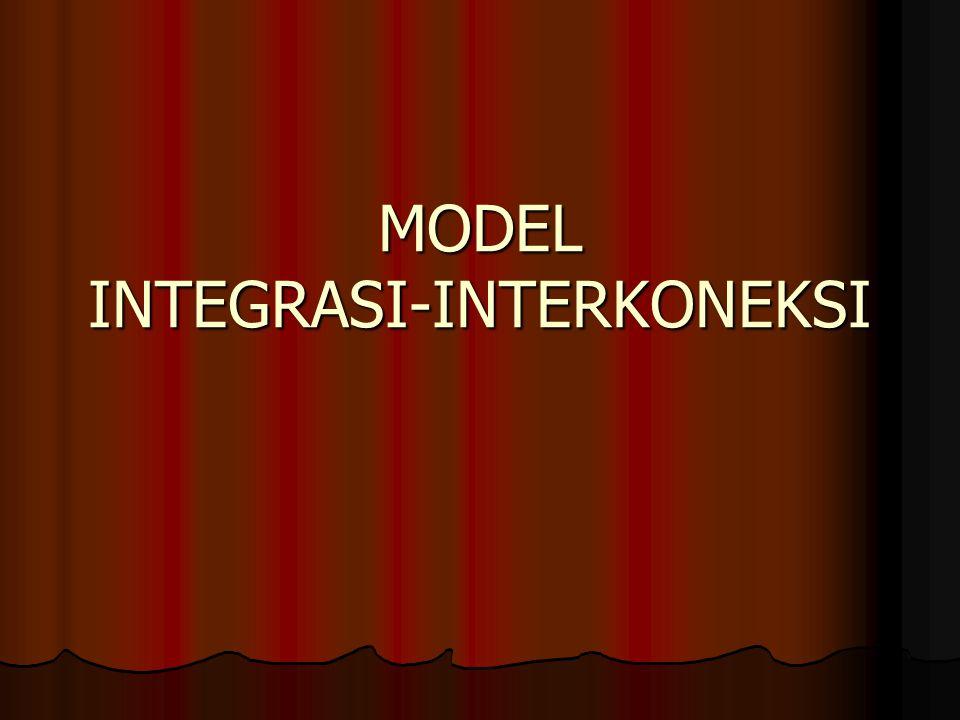MODEL INTEGRASI-INTERKONEKSI