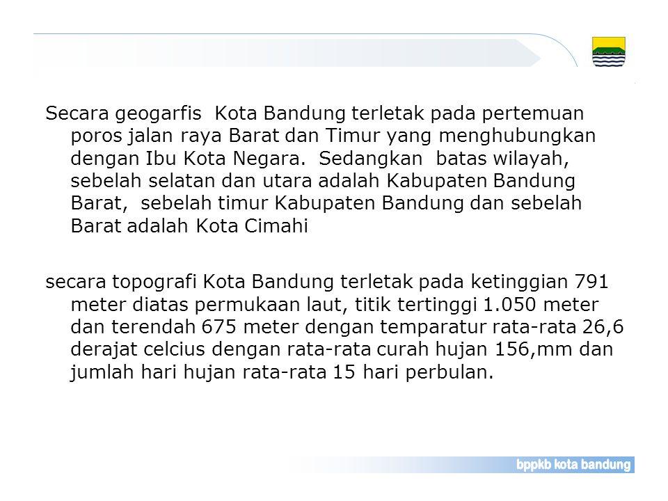 Sebagai Ibu Kota Propinsi Jawa Barat. Kota Bandung merupakan salah satu kota besar di Indonesia, dimana perkembangan pembangunannya semakin pesat baik