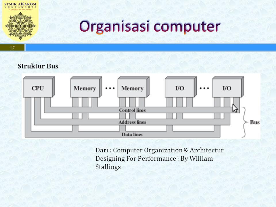 17 Struktur Bus Dari : Computer Organization & Architectur Designing For Performance : By William Stallings