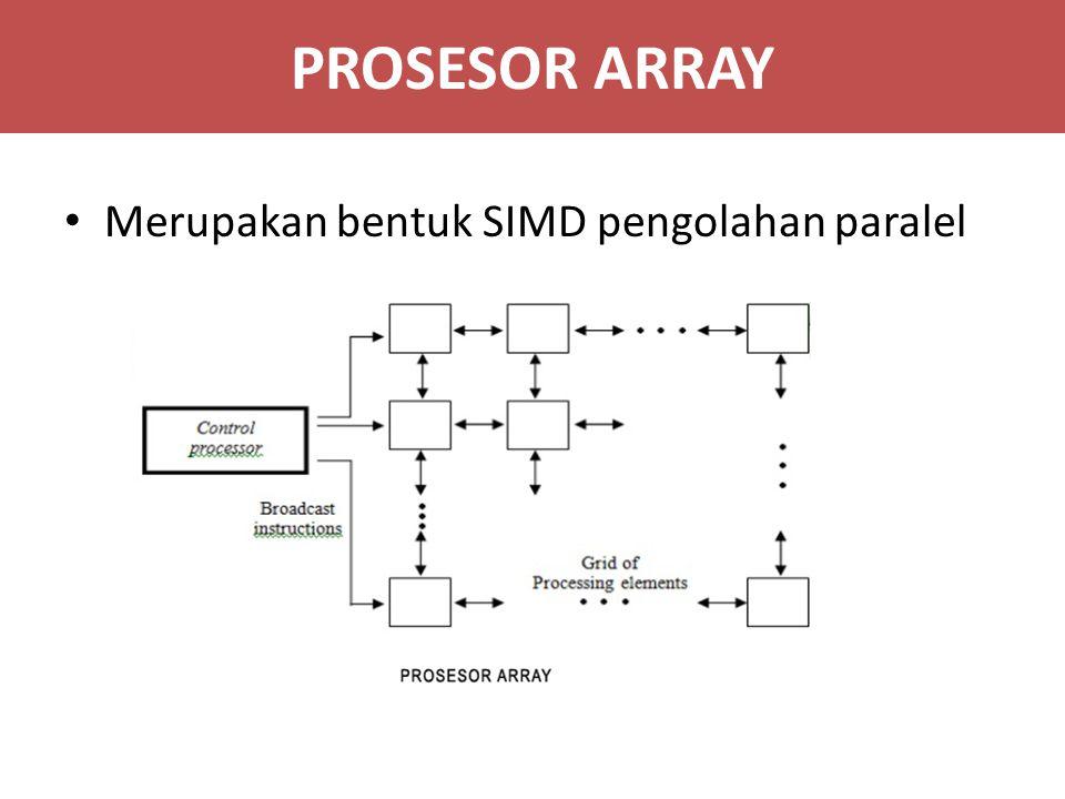PROSESOR ARRAY Merupakan bentuk SIMD pengolahan paralel